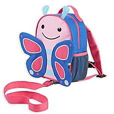 image of SKIP*HOP® Zoo Little Kid and Toddler Safety Harness Backpack in Blossom Butterfly