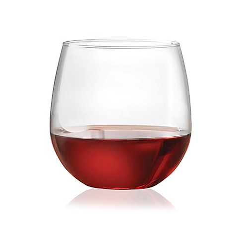Dailyware 16 5 oz stemless red wine glasses set of 4 - Stemless wine goblets ...