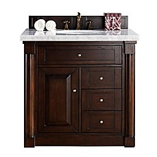 image of new haven 36 inch single vanity with marble top