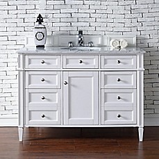 Brittany Vanity And Mirror In White Collection