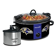 image of NFL Baltimore Ravens Crock-Pot® Cook & Carry™ Slow Cooker with Little Dipper Warmer