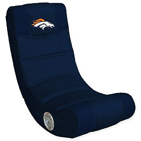 Nfl Denver Broncos Gaming Chair With Bluetooth 174 Bed Bath