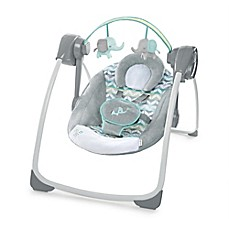 image of Ingenuity™ Comfort 2 Go Portable Swing™ Jungle Journey™ in Grey