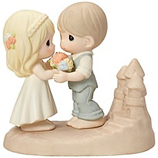 image of Precious Moments® Beach Wedding Couple Figurine