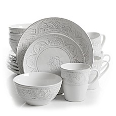 Gibson Overseas Juneau 16-Piece Dinnerware Set  sc 1 st  Bed Bath \u0026 Beyond & Dinnerware Sets: Stoneware Square Dinnerware and more | Bed Bath ...