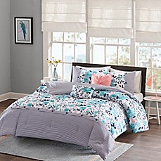 Ordinaire Intelligent Design Delle Reversible Comforter Set In Blue