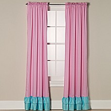 image of Sweet Jojo Designs Skylar Window Panel Pair in Pink/Turquoise