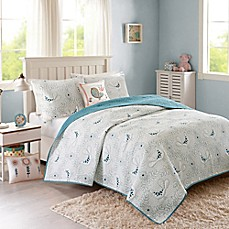 image of INK+IVY Kids® Rosie Reversible Coverlet Set