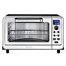 image of Krups® Metal 6-Slice Digital Convection Toaster Oven in Black/Silver