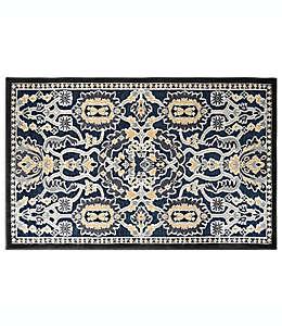 Tapete con diseño floral Home Dynamix de 68.58 cm x 1.09 m en azul marino