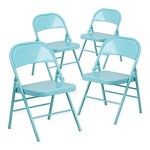 Flash Furniture Hercules Metal 4 Pack Folding Chairs