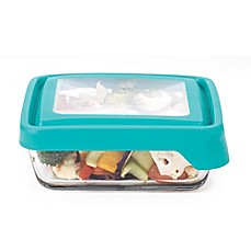 image of Anchor Hocking True Seal 4.75-Cup Square Food Storage in Teal