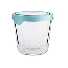 image of Anchor Hocking True Seal 7-Cup Tall Round Food Storage in Blue