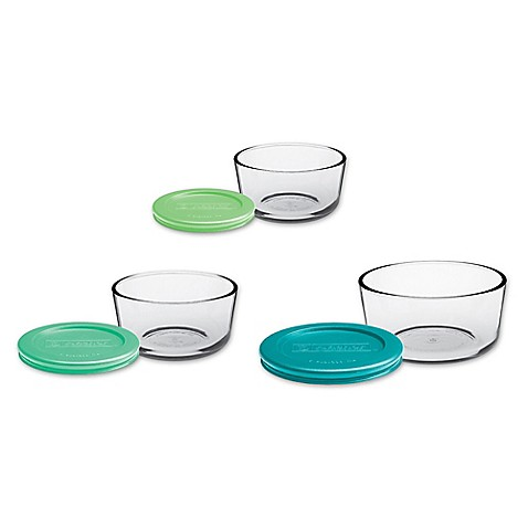 Anchor Hocking 6-Piece Round Basic Food Storage Set - Bed