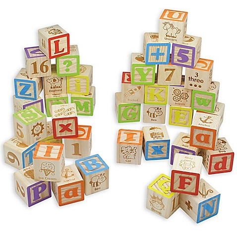 Maxim 169 Preschool Collection 40 Piece Abc Wooden Block Set