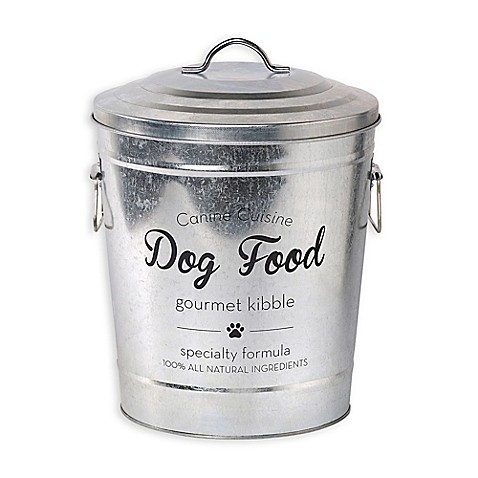 galvanized steel pet food storage bin with lid bed bath beyond. Black Bedroom Furniture Sets. Home Design Ideas