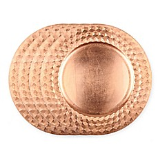 image of Gibson Overseas Diamond Rim Charger Plates in Copper (Set of 4)