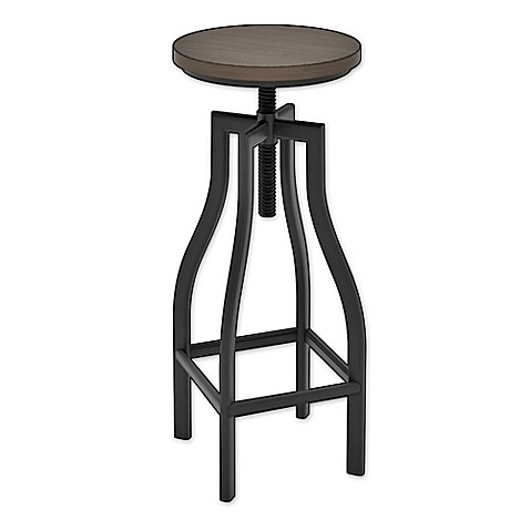 Z Line Designs Nori Adjustable Bar Stool In Black Espresso