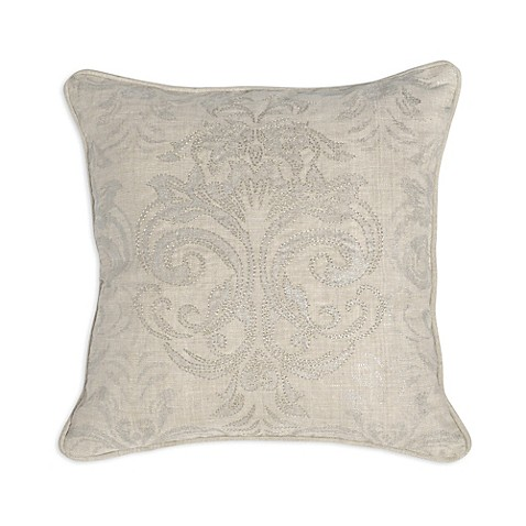 Villa Home Decorative Pillows : Villa Home Parish Square Throw Pillow in Pearl - Bed Bath & Beyond