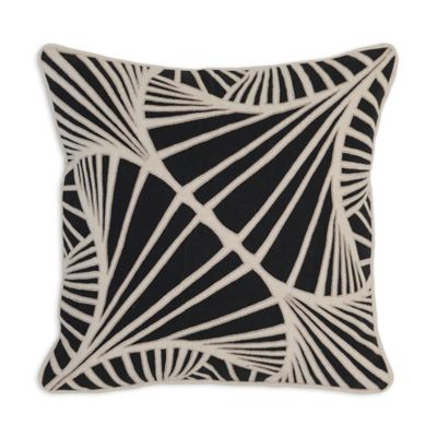 Black And Ivory Throw Pillows : Buy Villa Home Alvar 18-Inch Square Throw Pillow in Black/Ivory from Bed Bath & Beyond
