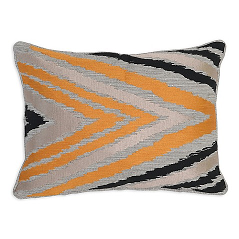 Bed Bath And Beyond Orange Throw Pillows : Buy Villa Home Clive Oblong Throw Pillow in Orange/Black from Bed Bath & Beyond
