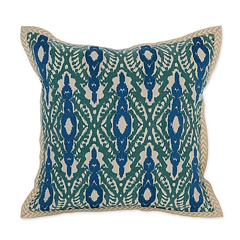 Villa Home Decorative Pillows : Villa Home Bali 18-Inch Square Throw Pillow in Teal/Blue - Bed Bath & Beyond
