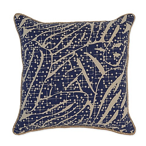 Villa Home Catarina 22-Inch Square Throw Pillow in Navy - Bed Bath & Beyond