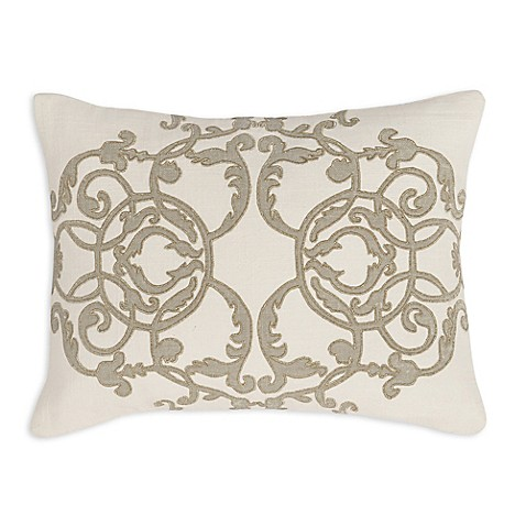 Buy Villa Home Agera Oblong Throw Pillow in Ivory/Gold from Bed Bath & Beyond
