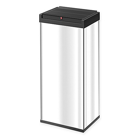 buy hailo big box rectangular 60 liter swing trash can in stainless steel from bed bath beyond. Black Bedroom Furniture Sets. Home Design Ideas