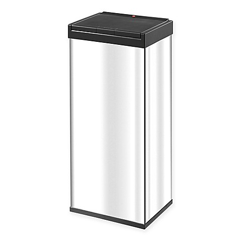 buy hailo big box touch 60 liter waste bin in stainless steel from bed bath beyond. Black Bedroom Furniture Sets. Home Design Ideas