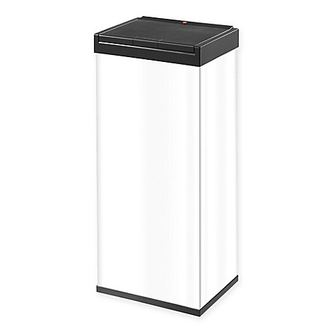 buy hailo big box touch 60 liter waste bin in white from bed bath beyond. Black Bedroom Furniture Sets. Home Design Ideas