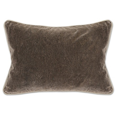 Buy Villa Home Velvet Heirloom Oblong Throw Pillow in Brown from Bed Bath & Beyond