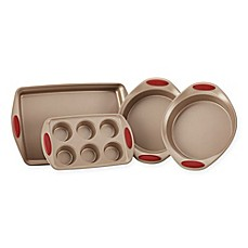 image of rachael ray cucina nonstick 4piece bakeware set in brown - Bakeware Sets