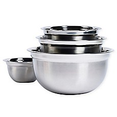 image of Tabletops Unlimited® 4-Piece Stainless Steel Mixing Bowl Set