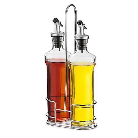 buy artland oil and vinegar cruet set with wire caddy from bed bath beyond. Black Bedroom Furniture Sets. Home Design Ideas