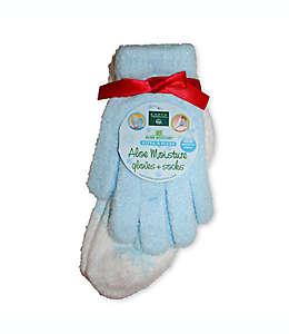 Set de guantes y calcetines con áloe vera en azul