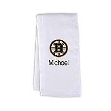 image of Designs by Chad and Jake NHL Personalized Boston Bruins Burp Cloth