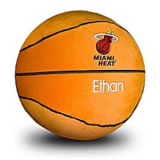 image of Designs by Chad and Jake NBA Miami Heat Personalized Plush Basketball