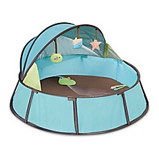 image of babymoov® Anti-UV Playpen in Blue/Taupe