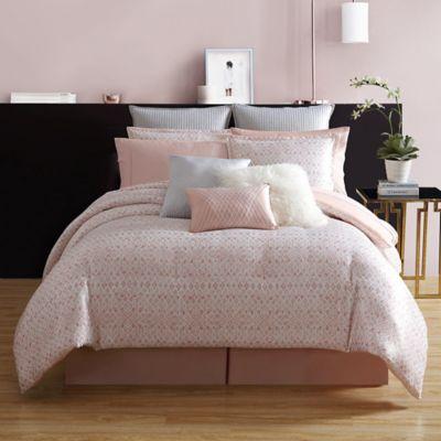 Nikki Chu Shira Comforter Set In Rose