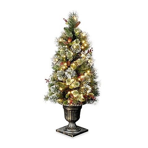 Buy 4 Foot Wintry Pine Entrance Tree Pre Lit With 50 Clear