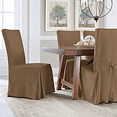 image of Perfect Fit® Smooth Suede Relaxed Fit Dining Chair Slipcover