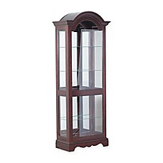 image of Powell Chadwick Curio Cabinet in Cherry