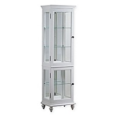 image of Powell Whitehurst Curio Cabinet in White