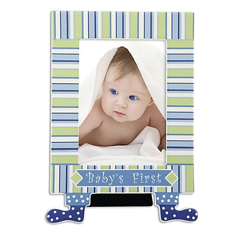 Gorham® 5-Inch x 7-Inch Little Boy Blue Baby's First Picture Frame with Feet