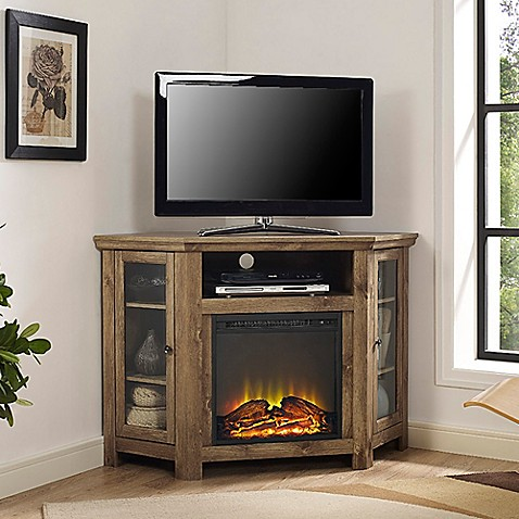 Walker Edison 174 48 Inch Corner Fireplace Tv Stand Bed