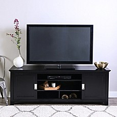 image of Walker Edison 70-Inch TV Console with Sliding Doors