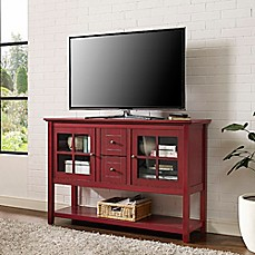 image of walker edison 52inch wood console table tv stand