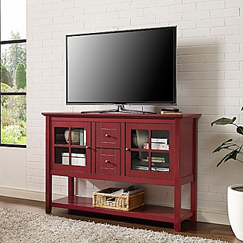 Image Of Walker Edison 52 Inch Wood Console Table TV Stand