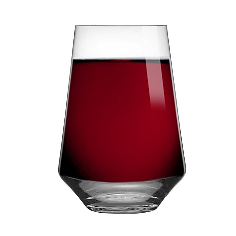 buy schott zwiesel tritan pure bordeaux stemless wine glasses set of 6 from bed bath beyond. Black Bedroom Furniture Sets. Home Design Ideas
